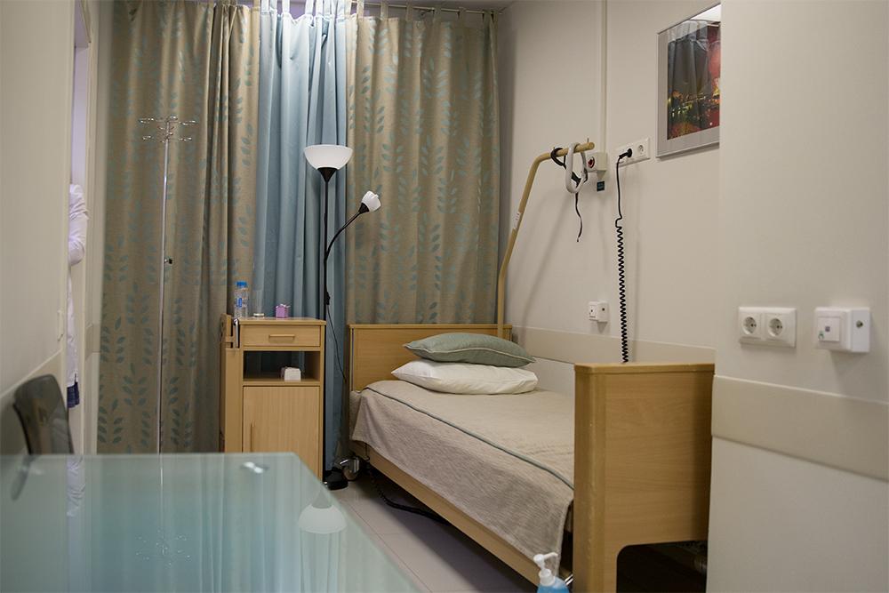 Гораздо уютней, чем в больнице