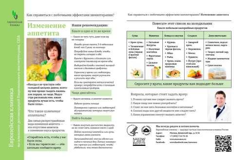 изменение аппетита после химиотерапии